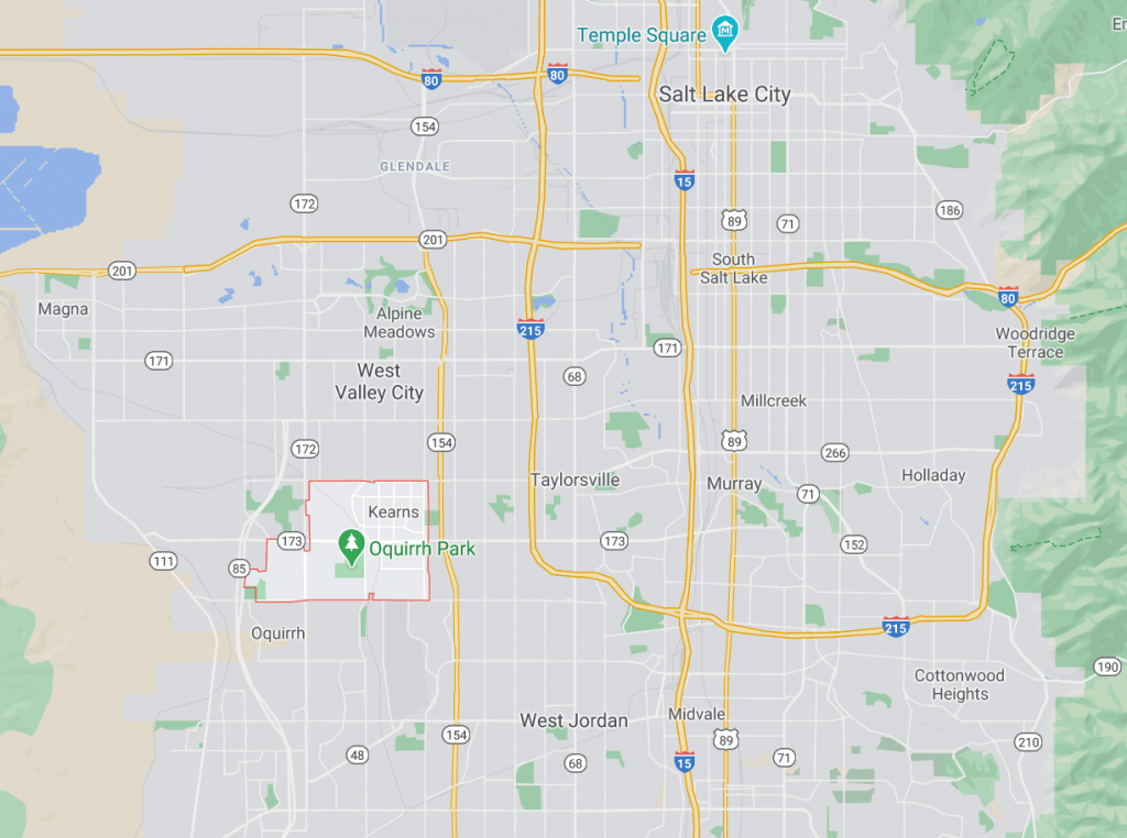 Kearns UT Google Area Map