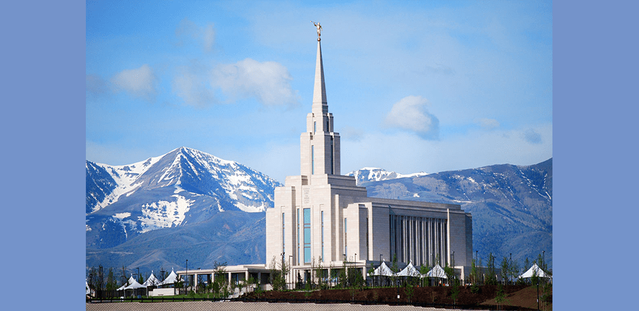 Oquirrh Mountains and Temple Image