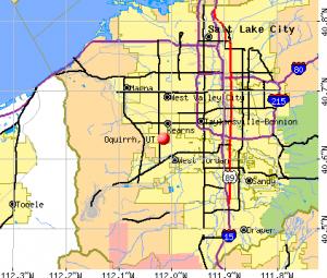 Oquirrh UT map