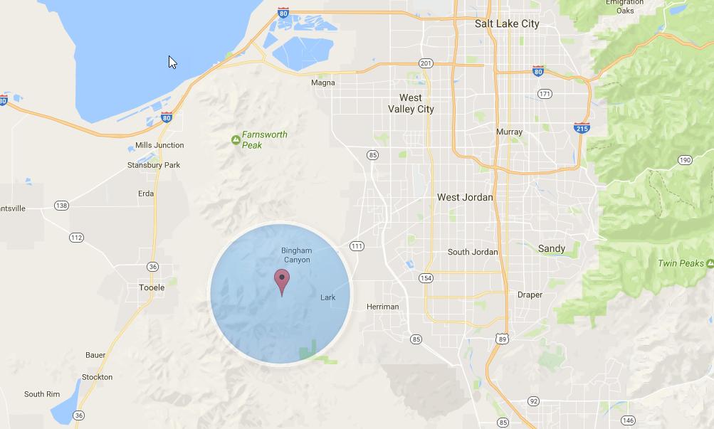 Bingham UT Real Estate Guide Google Area Map
