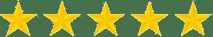 5 stars for Customer Testimonial ranking