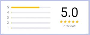 Seven 5 Star Reviews