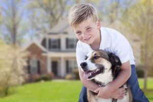 Child Dog Home