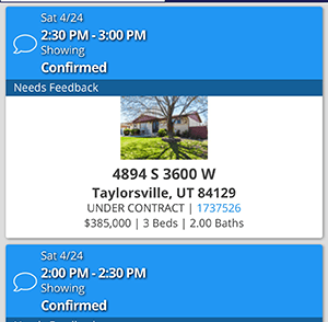 Showing Appointment 4894 S 3600 W