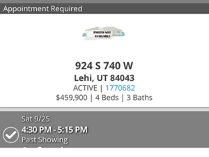 Showed house for sale to my client in Lehi Utah